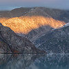 Sunrise in the Johns Hopkins Glacier area of Glacier Bay National Park, AK.