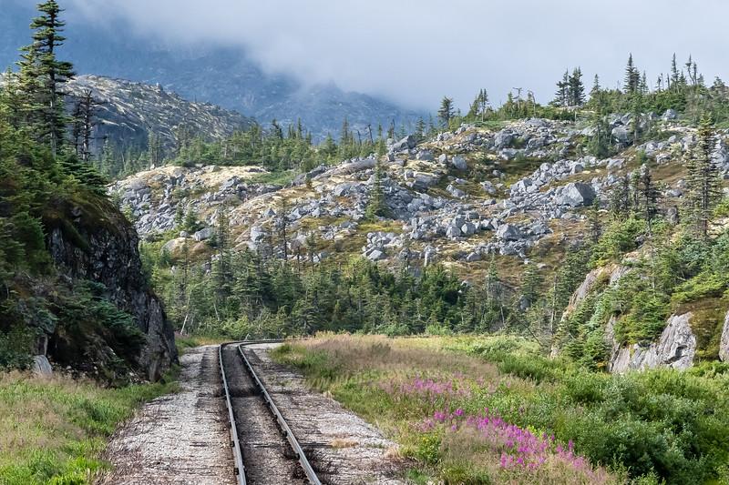 Narrow gauge White Pass & Yukon Route Train tour, from Skagway AK USA to Carcross Yukon Territory Canada.
