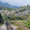 Narrow gauge White Pass & Yukon Route Train tour, from Skagway AK USA to Carcross Yukon Territory Canada.