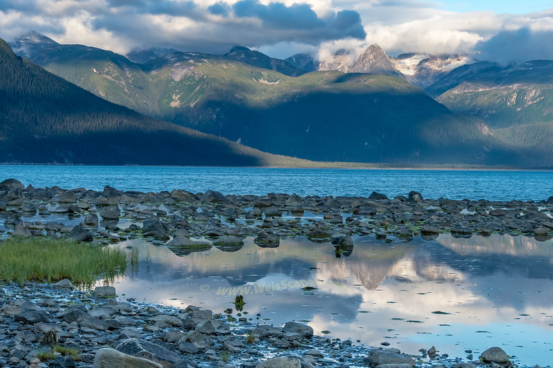 Tide pools overlooking the Chilkoot Inlet, Haines Alaska.
