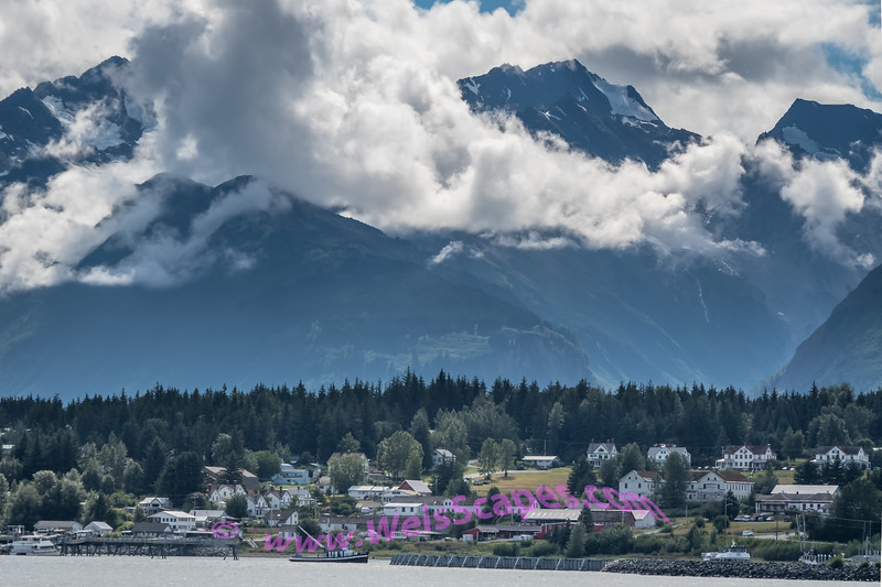 Clouds over the Chilkat Mountain Range, Haines Alaska.