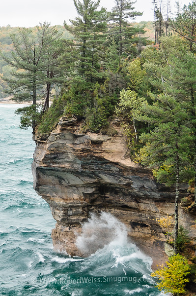 Stormy weather along the shoreline of Pictured Rocks National Lakeshore.