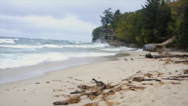 Video of Waves at Chapel Rock, Pictured Rocks National Lakeshore.