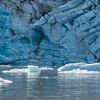 Ice chips from Lamplugh Glacier, Galacier Bay National Park, Alaska.