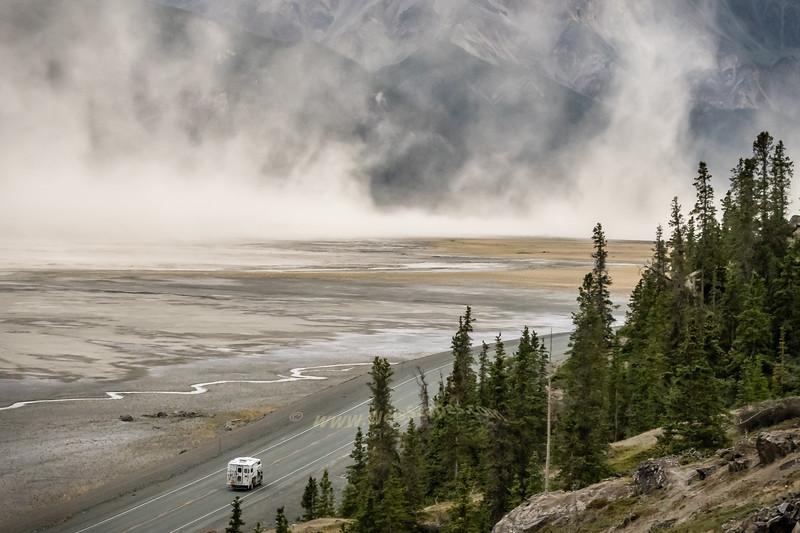 Dust Storm in the Kluane Wilderness, Yukon Territory, Canada.