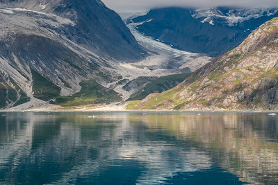 Landscape reflections in Glacier Bay National Park, Alaska.