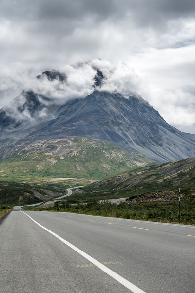 Haines Highway on the way to the Yukon Territory, Canada.