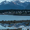 Sunset over Fort Seward, Haines Alaska.