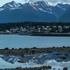 Sunset over Fort Seward, Haines Alaska.