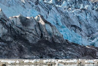 The icy face of  Lamplugh Glacier, Galacier Bay National Park, Alaska.
