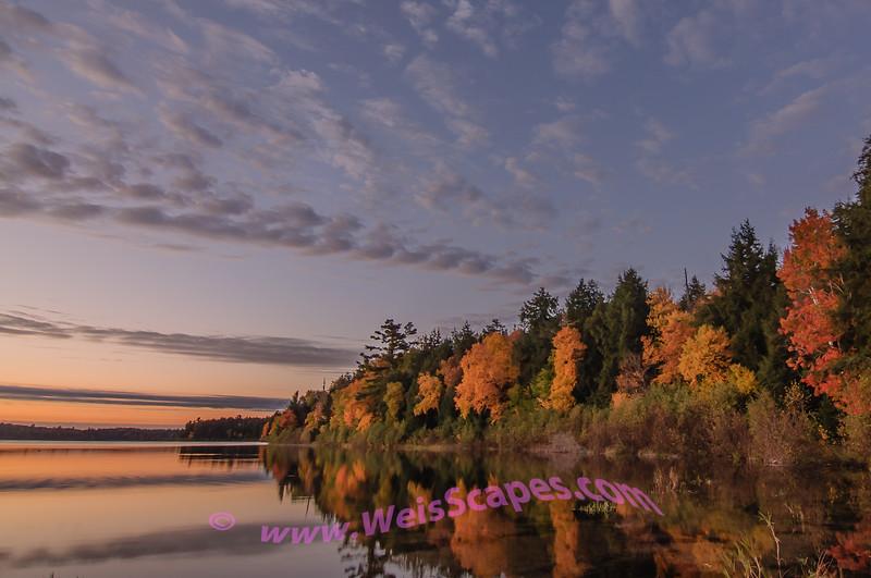 Sylvania Wilderness, sunrise over Clark Lake