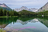 Reflections on Swiftcurrent Lake, Glacier National Park.