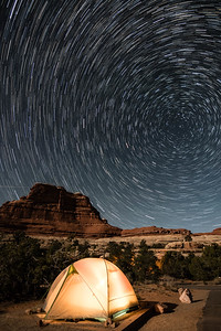 Stars over my Canyonland Campsite.