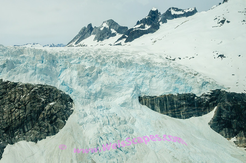 Cruising the glaciers above Juneau by seaplane.