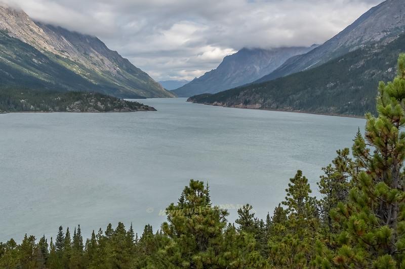 Lake Bennett at the White Pass Train Station.