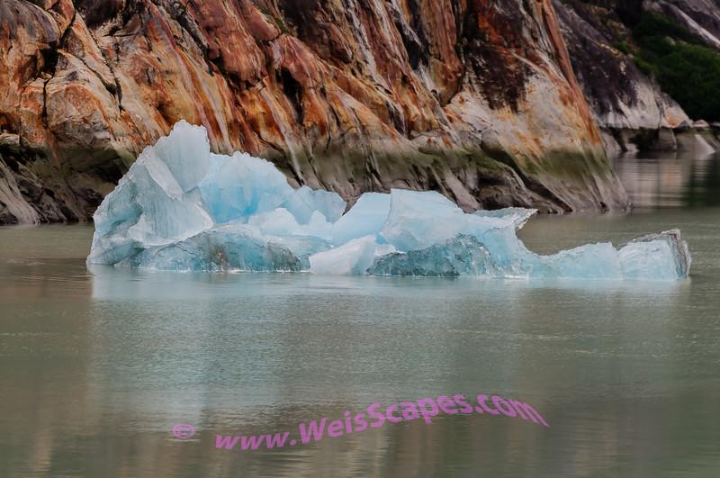 Bergy bits from Dawe's Glacier, AK.