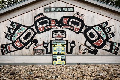 Tlingit Tribal House, Glacier Bay National Park, Alaska.