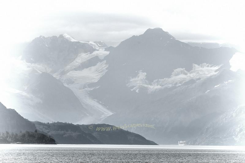 Cruise ship visiting Margerie Glacier, Glacier Bay National Park, AK.