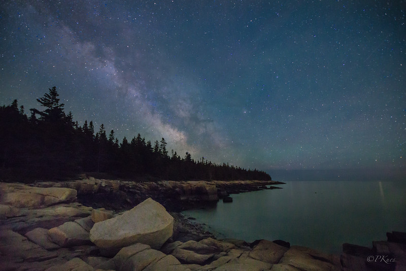 And finally the Milky Way showed up just over the edge of the bay... it was silent , wind still and just simply beautiful.