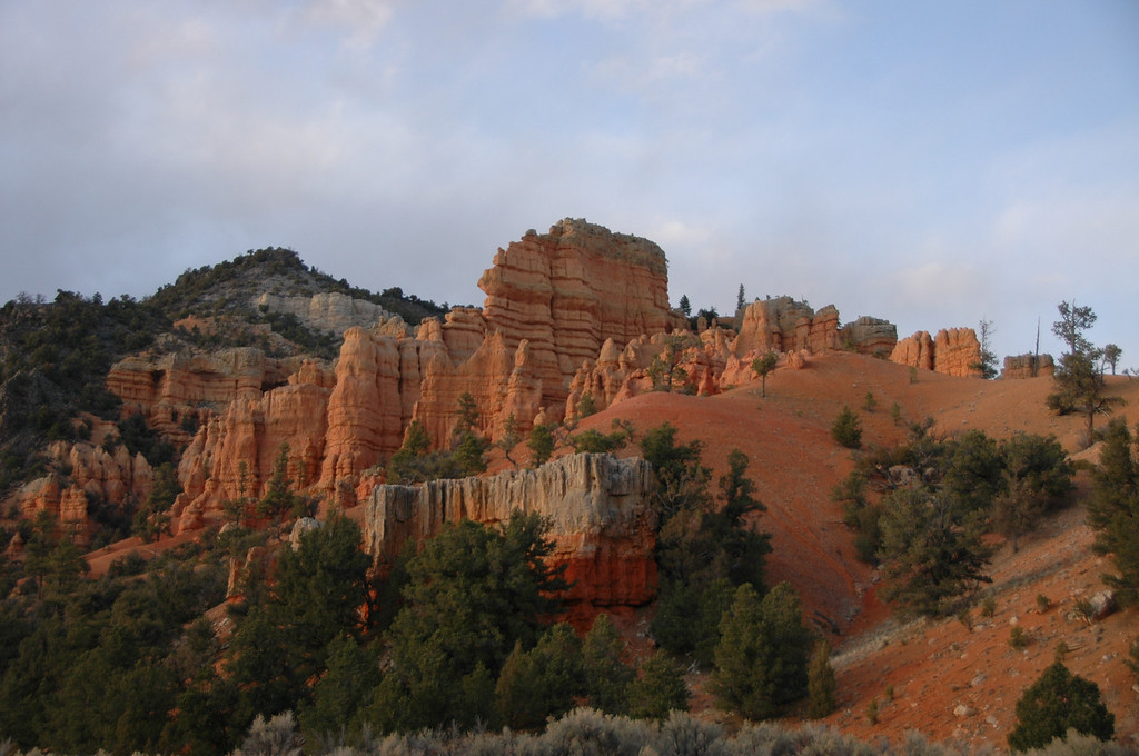 Approaching from the west side of Bryce Canyon National Park, you will go through Red Canyon Park.  Plan on spending time hiking through the park.