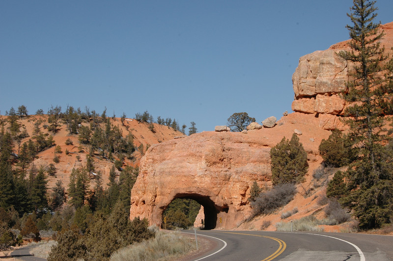 Notice the bike path to the left of the tunnel.
