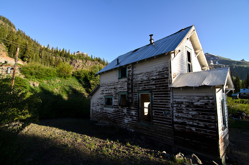 I haven't looked into the history of this town but to me it doesn't seem THAT old. It's definitely abandoned though...<br /> <br /> I do know of another mining town near Vail where it had to be abandoned due to arsenic leaking into the ground water. This may or may not be the case here.