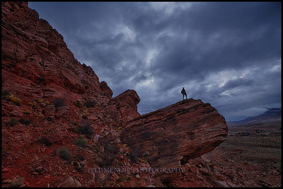 Sunrise Hike Around Kraft Mountain in Calico Basin of Red Rock NP.
