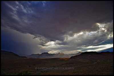 July Monsoon Above Red Rock Conservation Area.