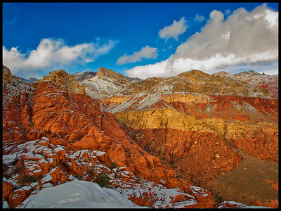 Early November Snow in Red Rock seen from Alternative Wall Crag.