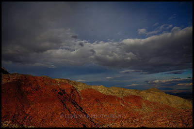 Sunset hike after the rain in the Red Rock.