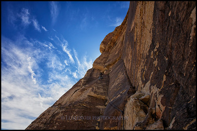 Frogland route experience in the Black Velevet Canyon, Red Rock NP