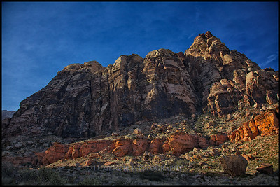 Spectrum Area of Pine Creek Canyon of Red Rock NP.