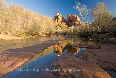 Sunset at Cathedral Rocks, Sedona, Arizona.