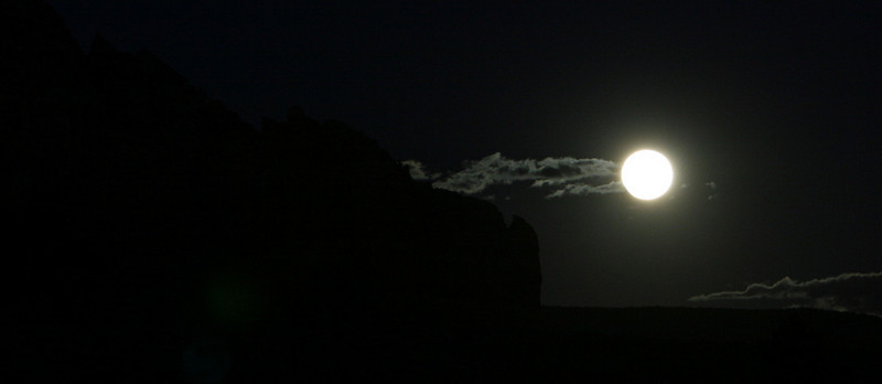 Moon Rise on Lee Mt