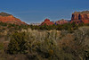 Bell Rock and House Mt on Left and Courthouse Butte on Right