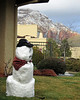 Winter snowman, about twice a year there is enough snow to make a snowman