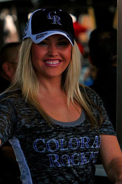 This charmer was selliing programs at the Rockies new Spring Training at Salt river Fields.