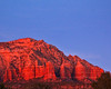 Red rays on red rocks