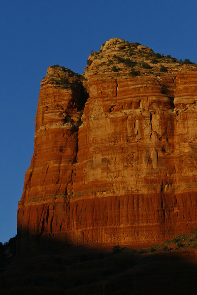 Shadows climb Courthouse Butte