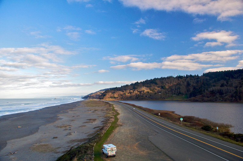 Orick Beach and Freshwater Lagoon, Redwood National Park, CA.