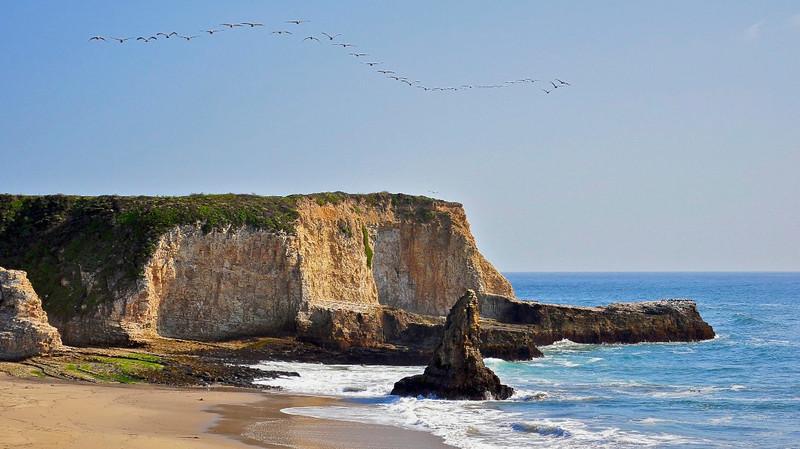 Davenport Beach, Davenport, CA.