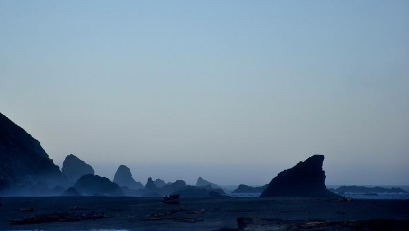 Dawn, Albion, CA.