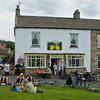 Reeth celebrating the Tour de France, which went through it