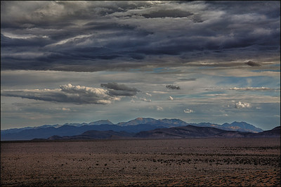 Looking over Amargosa Mountains.