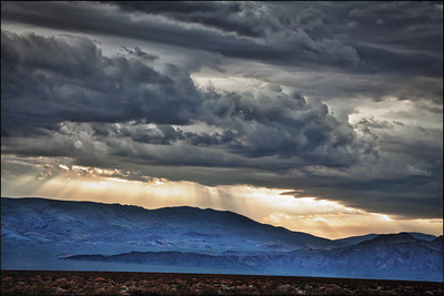 Dramatic Setting above Amargosa Mountains.
