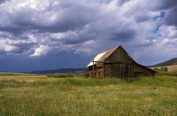 Wyoming barn before the hail storm