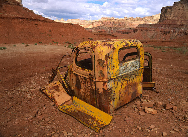 Old truck from the  uranium mining era of Utah - Horizontal