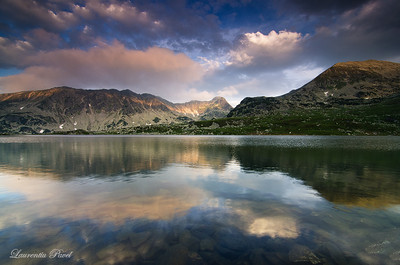 I'm waiting...  Bucura glacier lake situated at 2040m altitude,the largest in Romania with a depth of 15.5m. I have been hanging around for a while not knowing what angle to tackle.The light was beautiful.I just had to stop somewhere and try my luck.