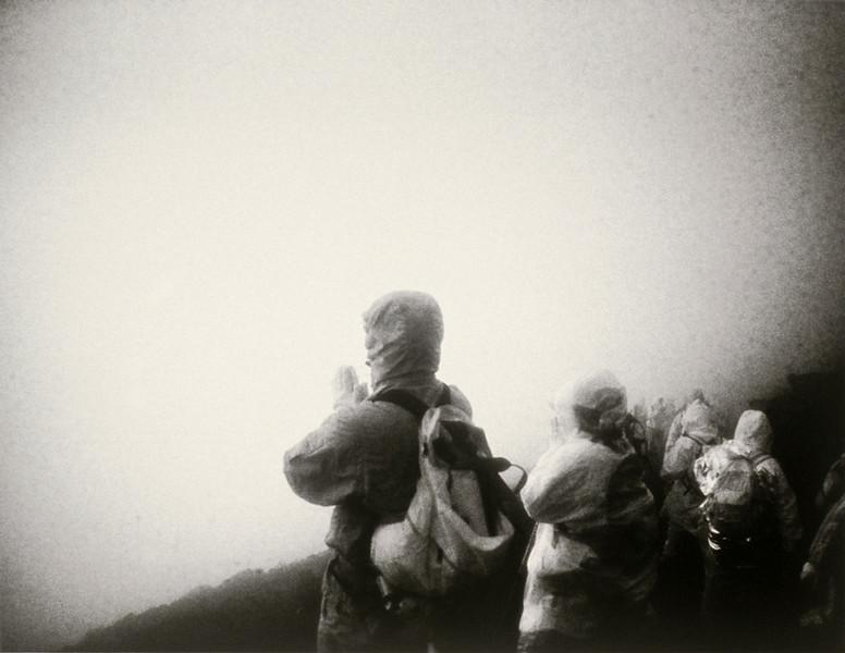 Dawn Prayer on Mt. Fuji