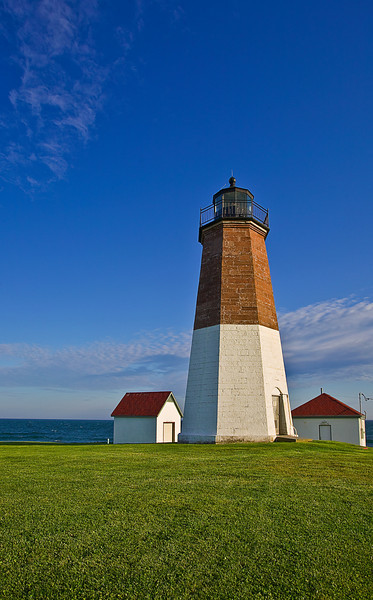 Rhode Island, Point Judith, Lighthouse, Sunset Landscape , 罗德岛, 灯塔 风景
